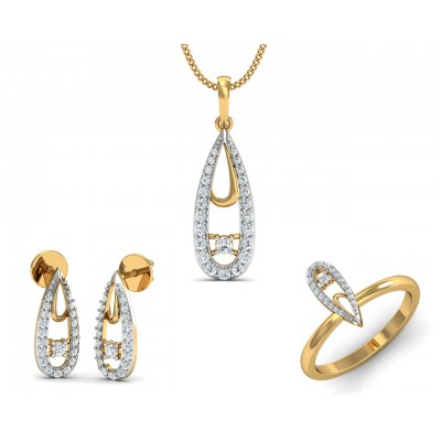 Aanshi Diamond Pendant Set